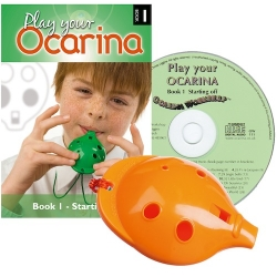 Orange 4-hole Oc with Book 1 and CD