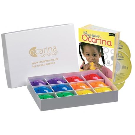 4-hole Rainbow Box with Songs of Praise + CD