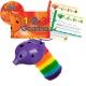 Purple 4-hole Oc with 1-2-3 Ocarina and CD + OcSock