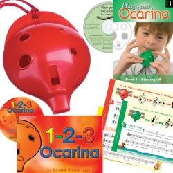 4-hole Oc with Book 1 and CD + 1-2-3 Ocarina and CD