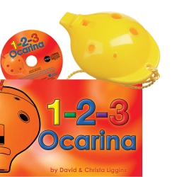 Yellow 4-hole Oc with 1-2-3 Ocarina and CD