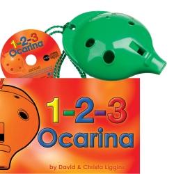 Green 4-hole Oc with 1-2-3 Ocarina and CD