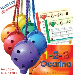 4-hole Oc and 1-2-3 Ocarina Class Music Book