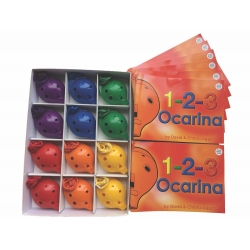 4-hole Box + 1-2-3 Ocarina Books