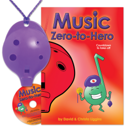Purple 4-hole Oc with Music Zero-to-Hero and CD