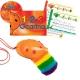 Orange 4-hole Oc with 1-2-3 Ocarina and CD + OcSock