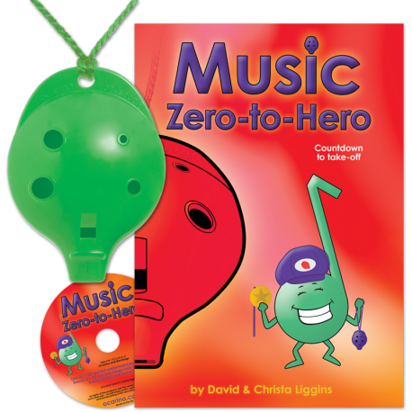 Green 4-hole Oc with Music Zero-to-Hero and CD
