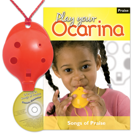 4-hole Oc with Play Your Ocarina Songs of Praise and CD