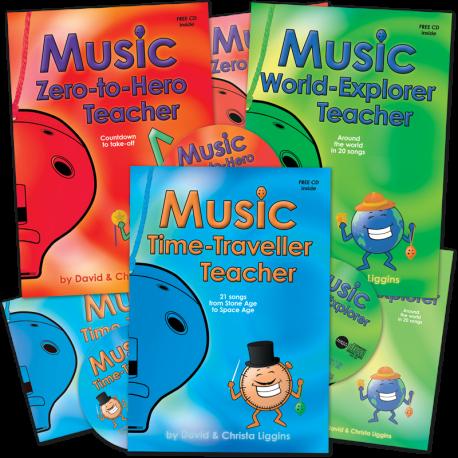 Music Teacher Books with CDs and Class Music Books