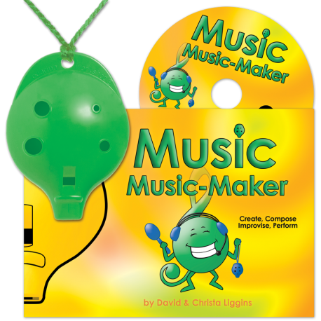 Green 4-hole Oc with Music Music-Maker and CD