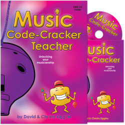 Music Code-Cracker Teacher with class music book