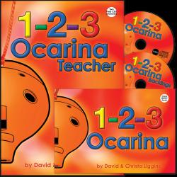 1-2-3 Ocarina Teacher + Pupil + CDs