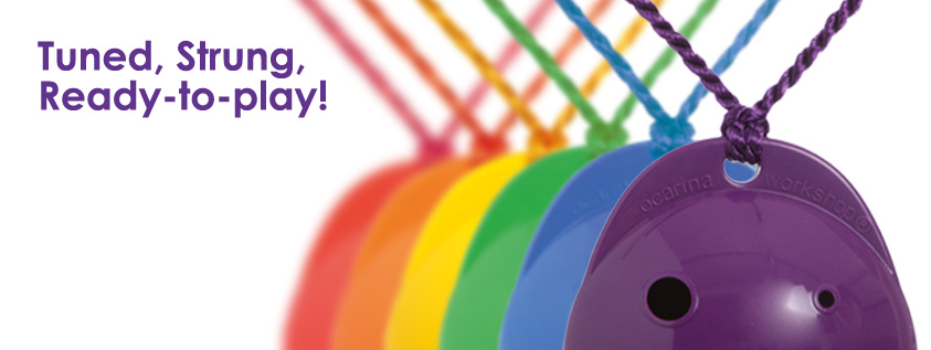 Plastic Rainbow Ocarinas 4-hole Ocarina